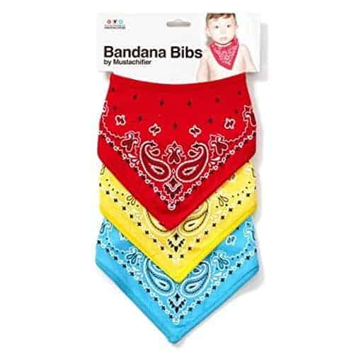 Funny baby shower gifts: Bandana bibs
