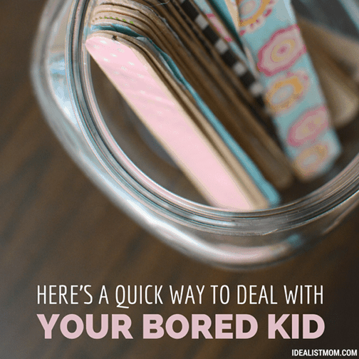 How to Deal With Your Bored Kid