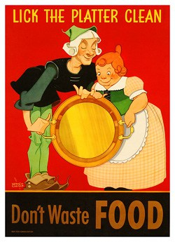 WWII Poster - Lick the Platter Clean