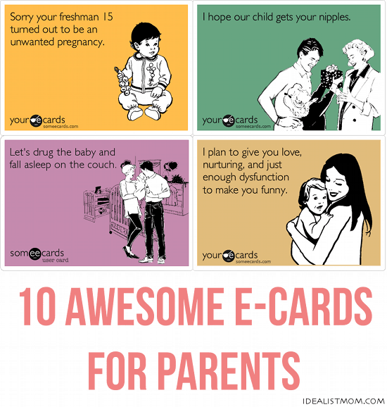 10 Awesome E-Cards for Parents