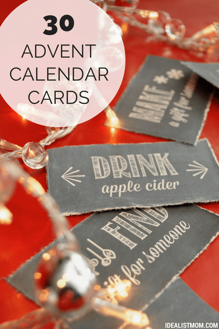 Advent Calendar Ideas Inside : Advent calendar activities that will delight your family