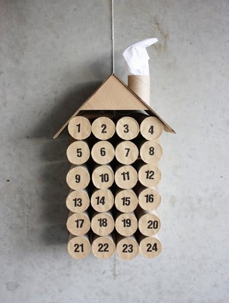 Advent Calendar With Toilet Paper Rolls