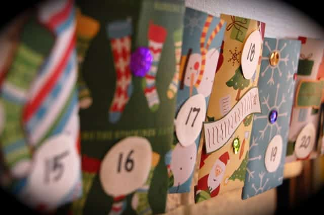 Advent Calendar With Scrapbook Paper