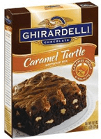 Ghirardelli Chocolate Caramel Turtle Brownie Mix