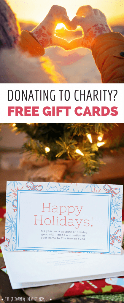 Donating to Charity As a Gift? 3 Free Cards to Go With Your Gift