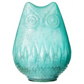 Threshold Teal Mercury Glass Owl Figural