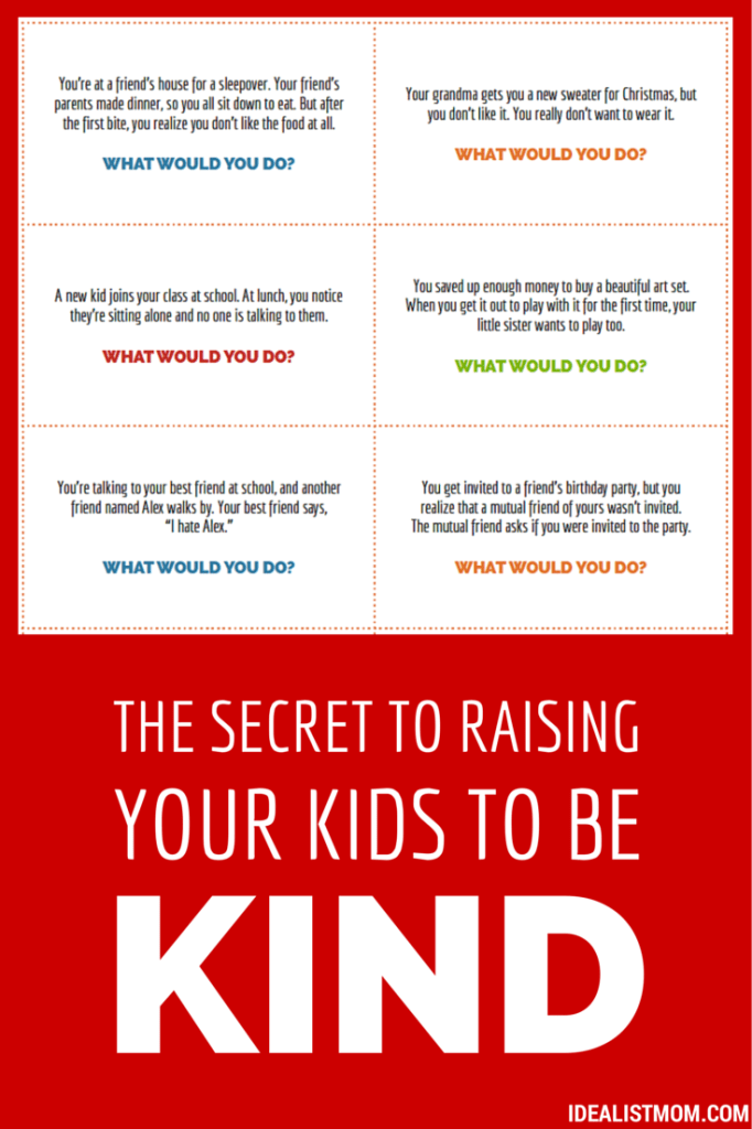The Secret to Raising Your Kids to Be Kind