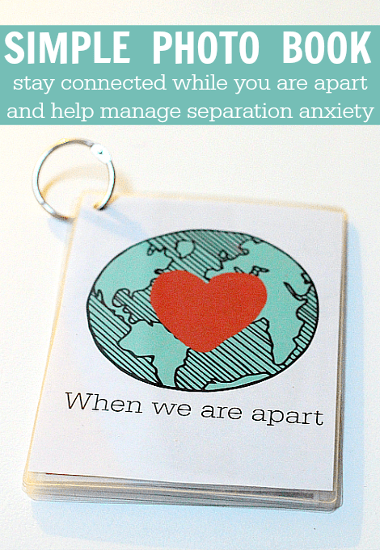 Help Manage Separation Anxiety with a Simple DIY Photo Book