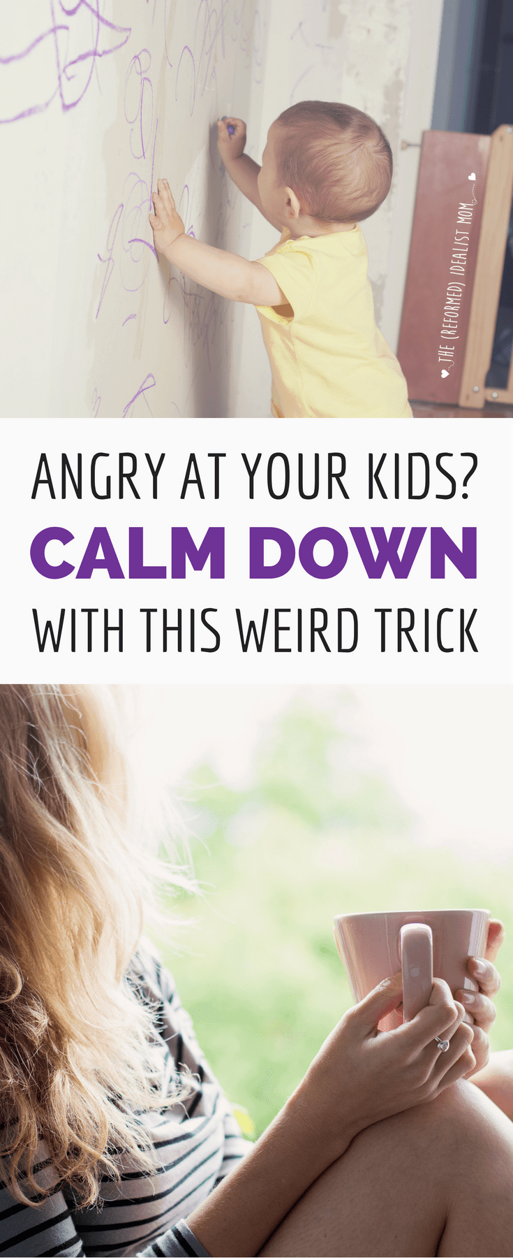 When your kids make you angry, here's a surefire parenting tip to make the anger and frustration disappear so you can calm down. This may sound weird, but it really works. Perfect for stressed moms!