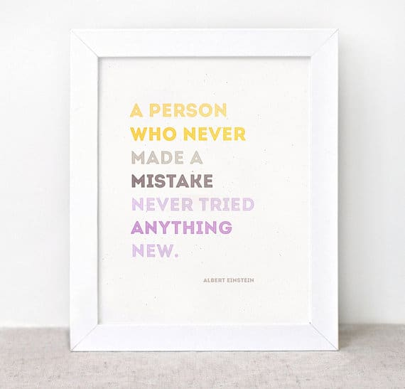 Perfectionist Quotes: Einstein on Mistakes