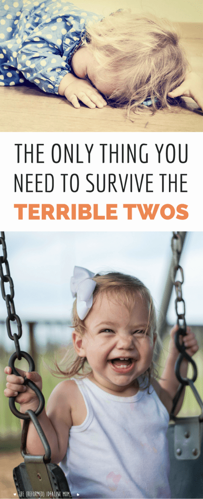 The Only Thing You Need to Survive the Terrible Twos