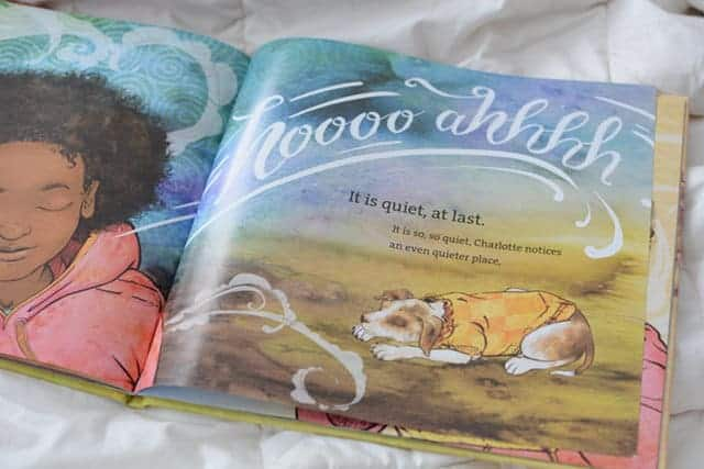One of the few bedtime stories for kids that encourages calming breaths