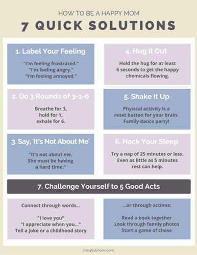 Cheat Sheet: How to Be a Happy Mom