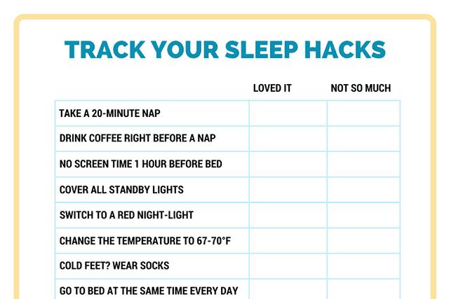 Track your sleep hacks