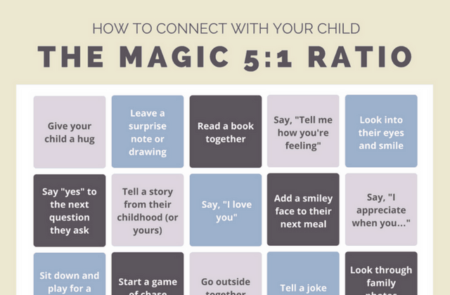 How to Connect With Your Child: A Bingo-Style Cheat Sheet