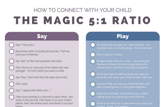 How to Connect With Your Child: A Cheat Sheet