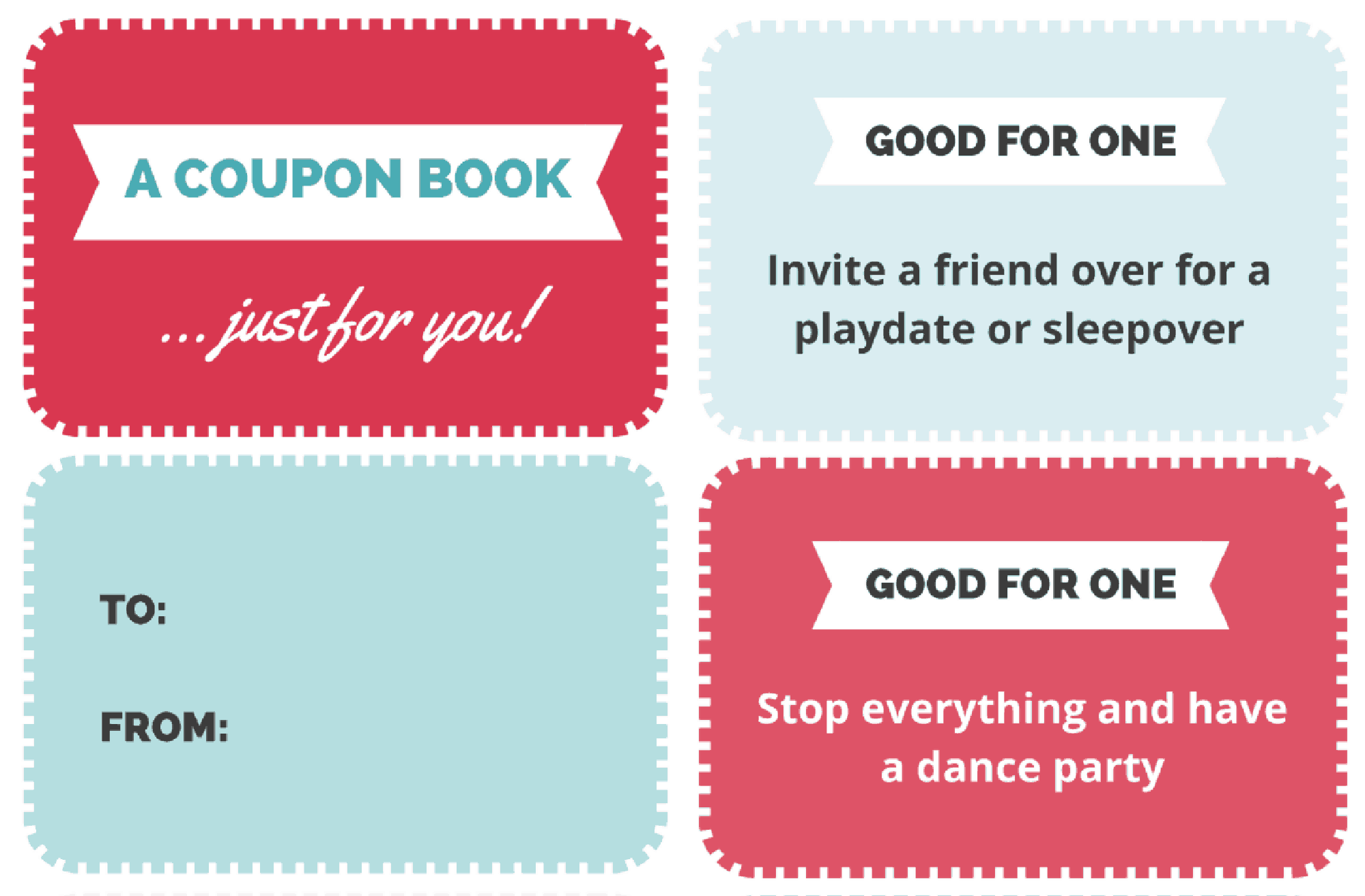A Free Printable Coupon Book for Kids That Makes the Best Gift