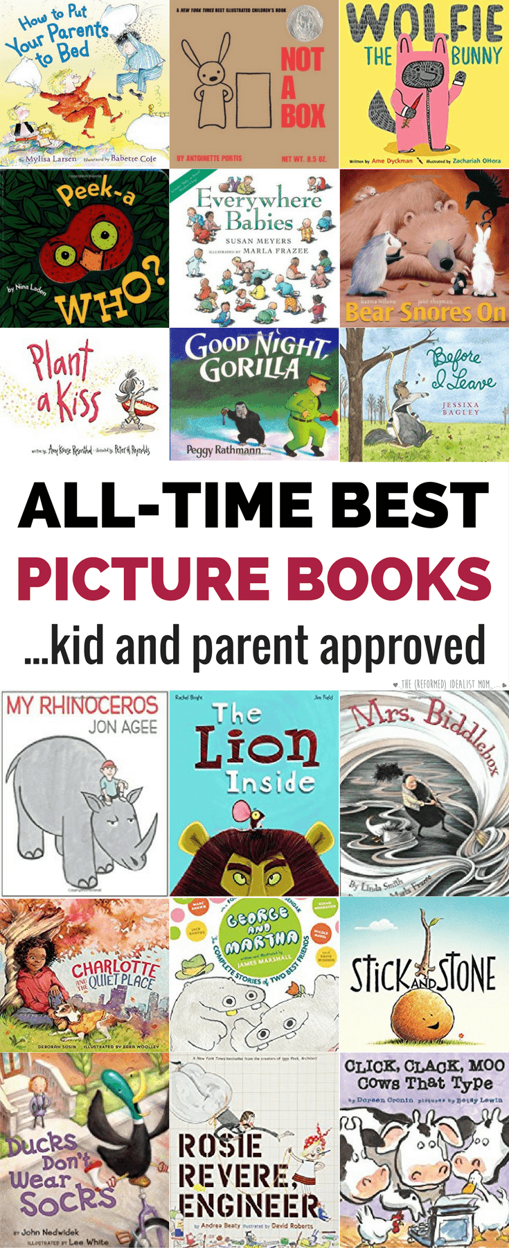 This isn't a list of the best picture books according to the
