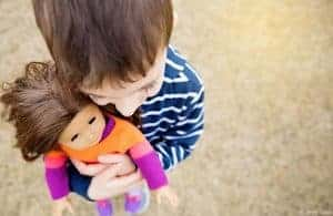 """30 Photos of Boys Playing With Dolls That Will Make You Go """"Awww"""""""