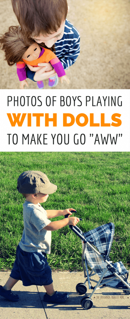 "35 Photos of Boys Playing With Dolls That Will Make You Go ""Awww"""