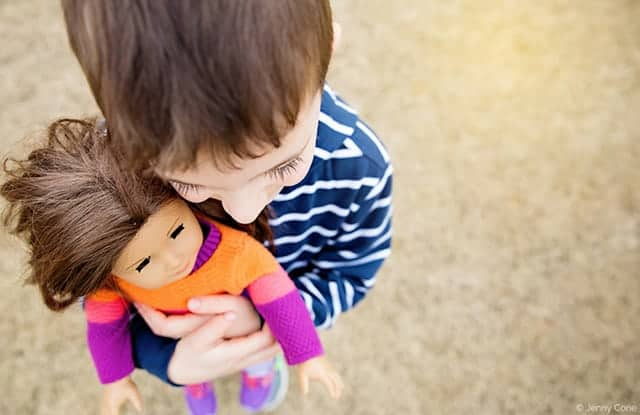 "28 Photos of Boys Playing With Dolls That Will Make You Go ""Awww"""