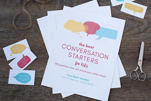 Your kids will love these conversation starter questions