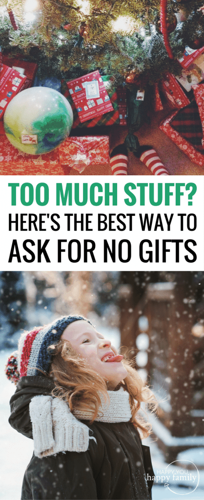 This is the best way to politely request no Christmas gifts this year