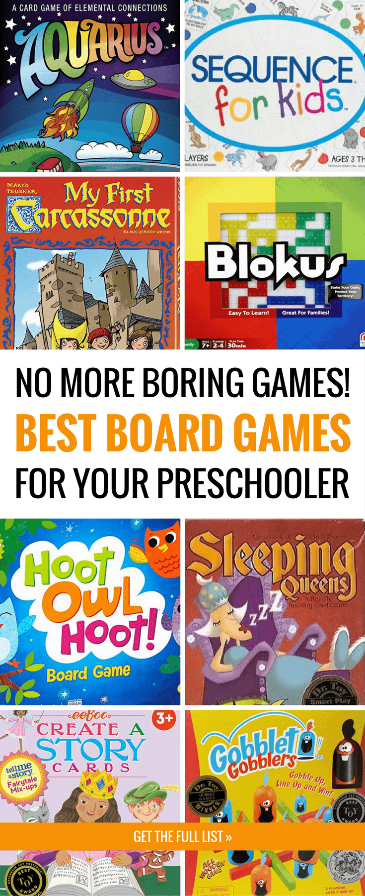 Forget boring games like Candyland and get these fun preschool board games instead. These card games and board games for preschoolers are WAY more fun, so kids *and* parents enjoy them. The perfect list of family board games for all ages! When you're looking for the best board games for kids, start here. #boardgames #gamesforkids #cardgames #preschoolactivities #preschoolers