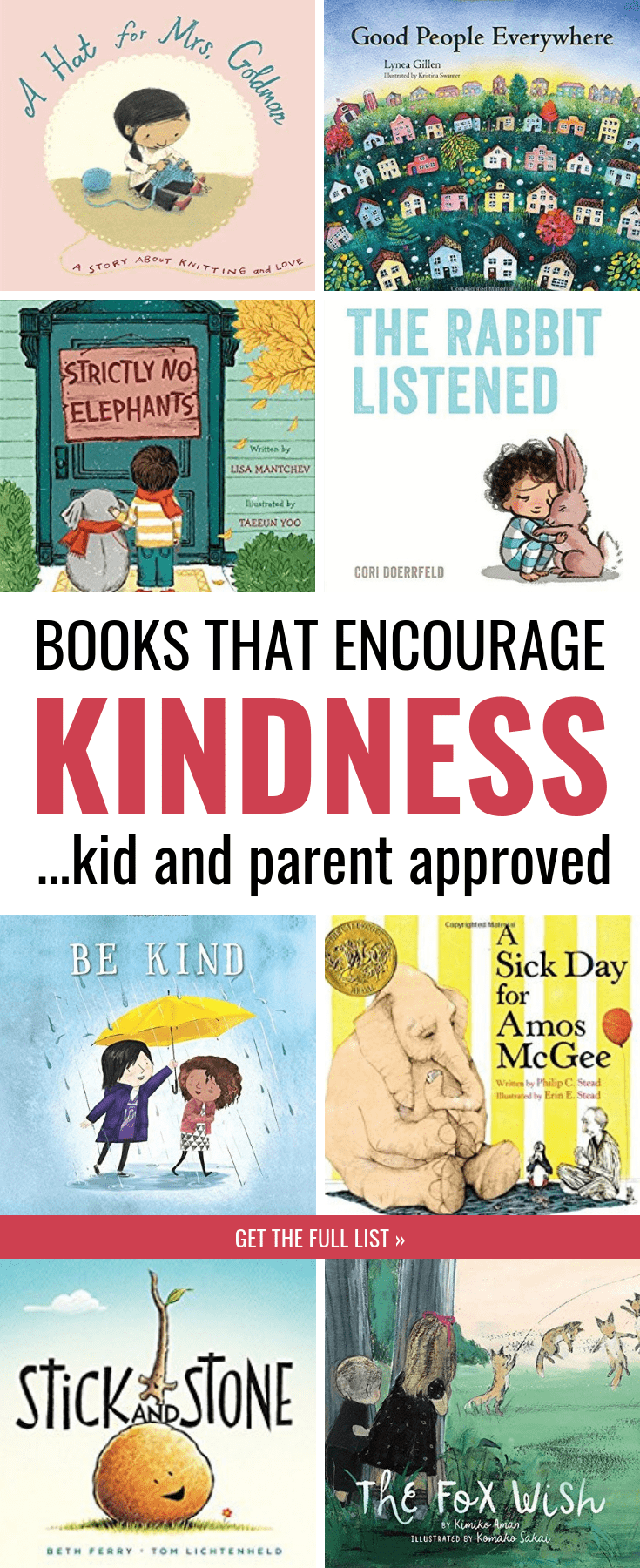 Share these children's books with your kids to encourage kindness toward others. Research shows this is one of the BEST ways you can raise kind kids--by encouraging kids to consider the perspective and struggles of others. This list of picture books is perfect for toddlers, preschool, kindergarten, and older kids too. #kidlit #kidsbooks #parenting #kids