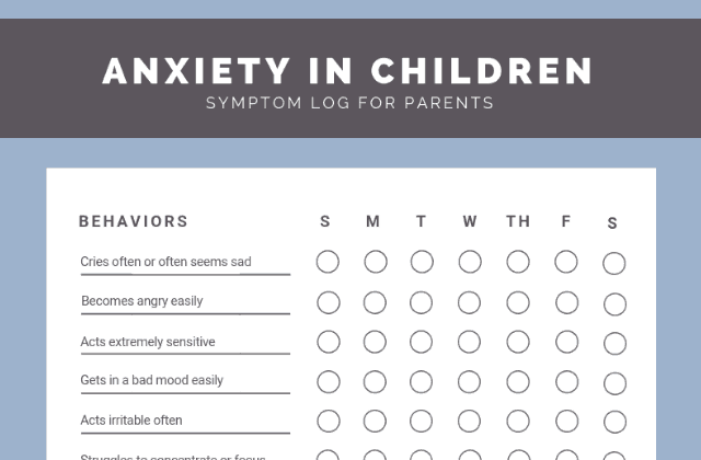 Download: anxiety in children symptoms checklist
