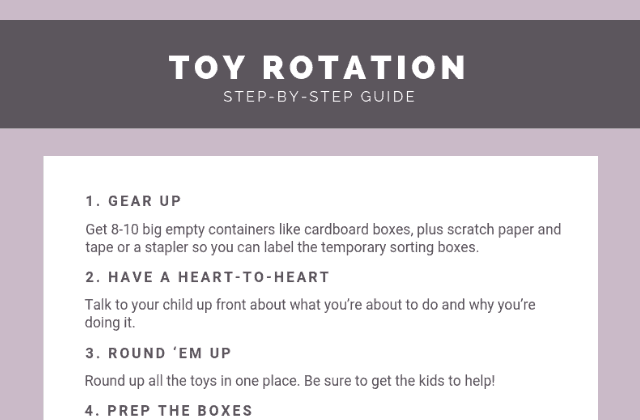 Free printable toy rotation kit: Step-by-step guide