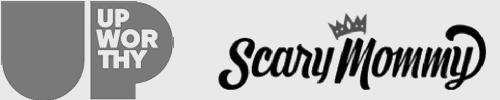 Logos - Upworthy + ScaryMommy