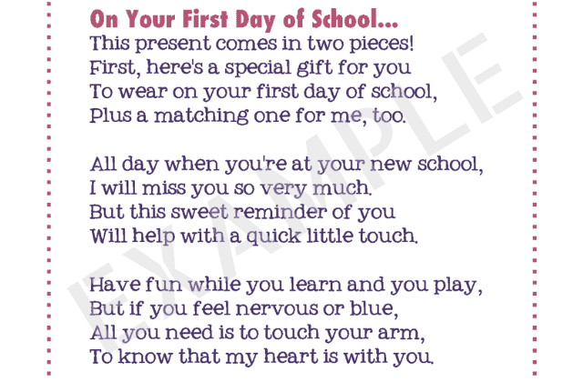This Sweet First Day of School Note Will Calm Your Child's Nerves
